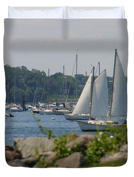 New England Seascape Duvet Cover by Denyse Duhaime
