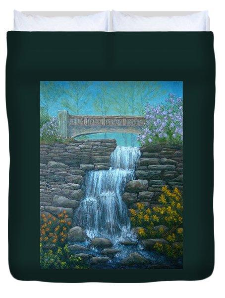 New England Waterfall Duvet Cover by Pamela Allegretto