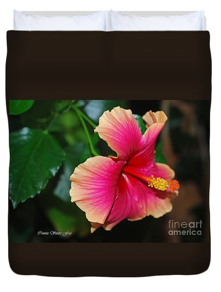 New Every Morning - Hibiscus Duvet Cover