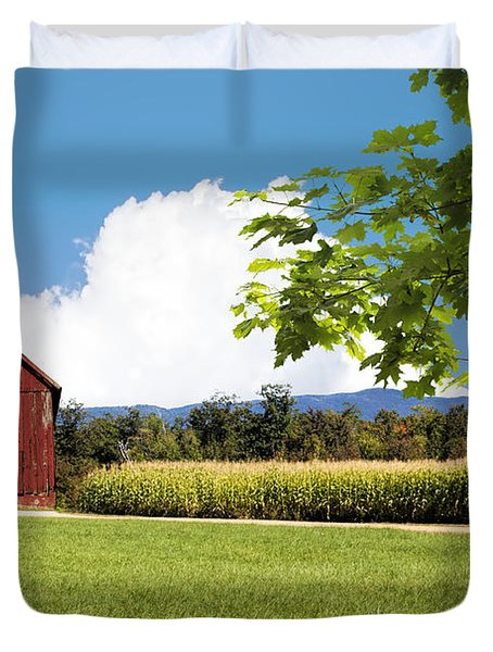 New Hampshire Barnyard Duvet Cover by Fred Larson