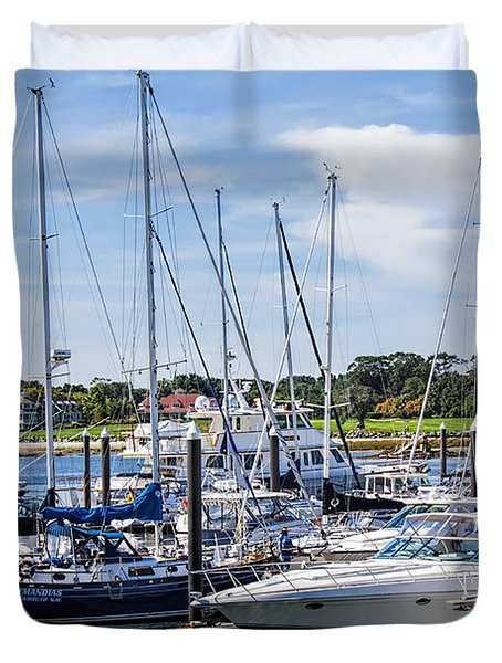 New Hampshire Marina Duvet Cover