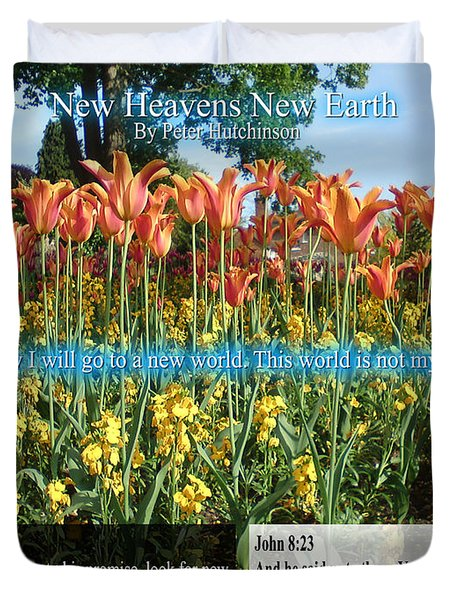 New Heavens New Earth Duvet Cover