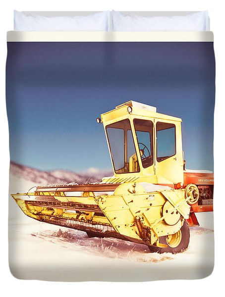New Holland 910 Windrower Duvet Cover by Yo Pedro
