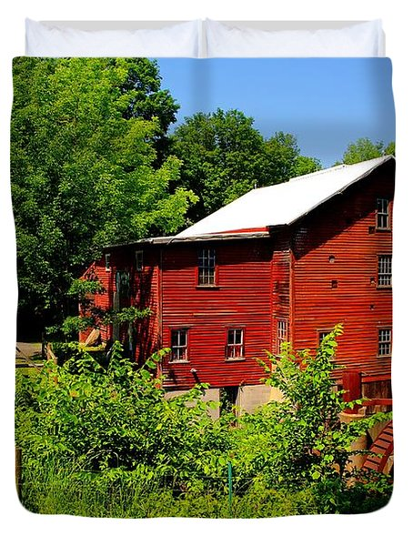New Hope Mill Duvet Cover by Dave Files