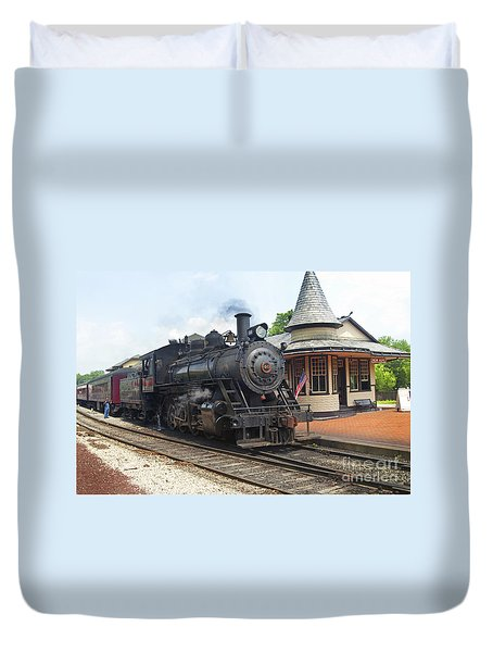 New Hope Station Duvet Cover by Paul W Faust -  Impressions of Light