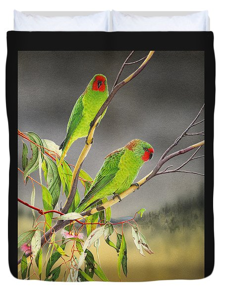 New Life - Little Lorikeets Duvet Cover