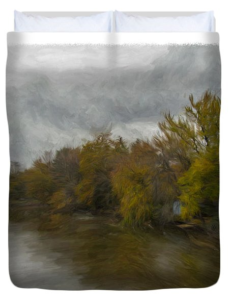 New Milford By Water Side Duvet Cover