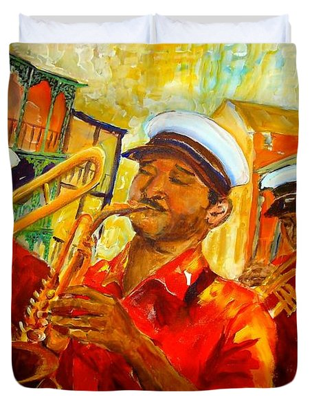 New Orleans Brass Band Duvet Cover