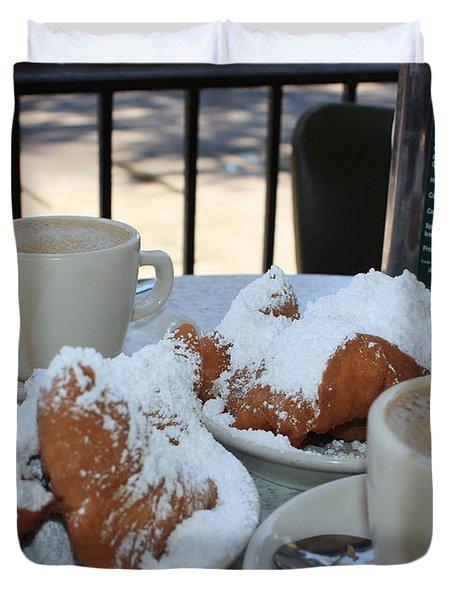 New Orleans Breakfast Duvet Cover
