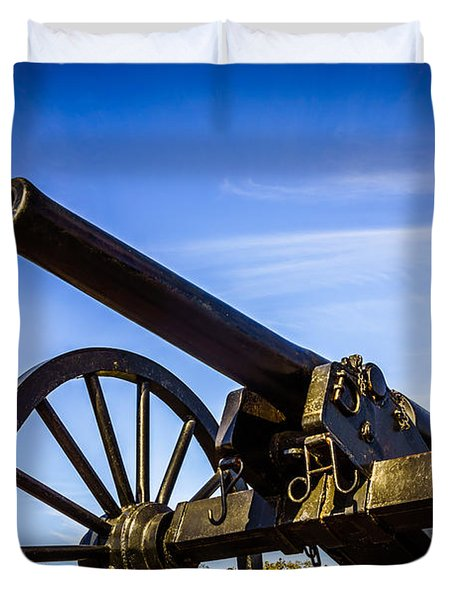 New Orleans Cannon At Washington Artillery Park Duvet Cover by Paul Velgos