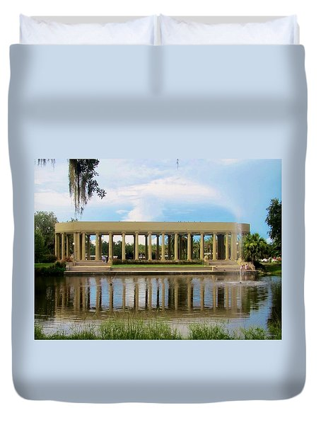 New Orleans City Park - Peristyle Duvet Cover