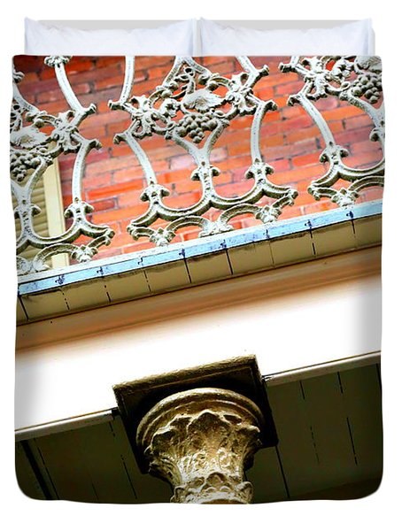 New Orleans Column Duvet Cover by Carol Groenen