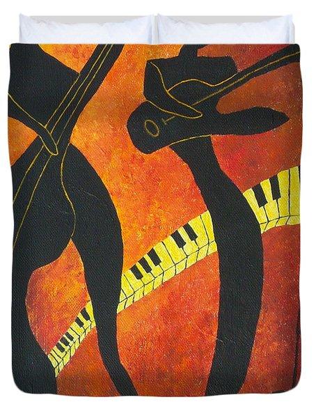 New Orleans Jazz Duvet Cover by Pamela Allegretto