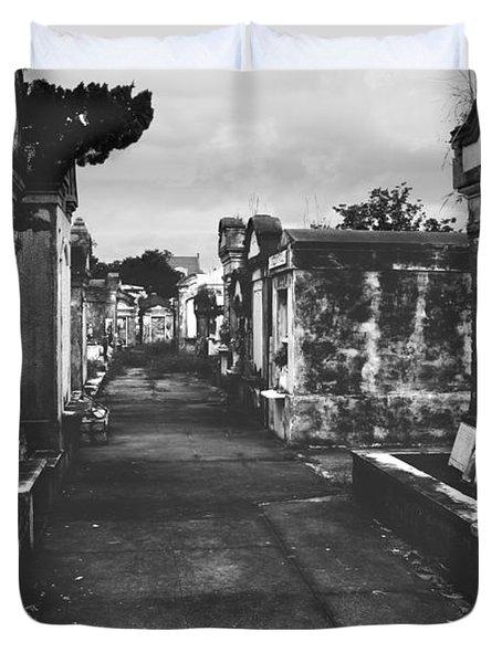 New Orleans Lafayette Cemetery Duvet Cover by Christine Till