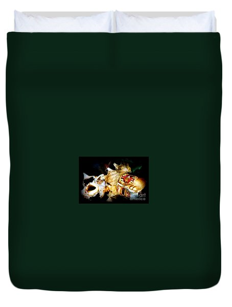 Duvet Cover featuring the photograph New Orleans Mardi Gras Mambo by Michael Hoard