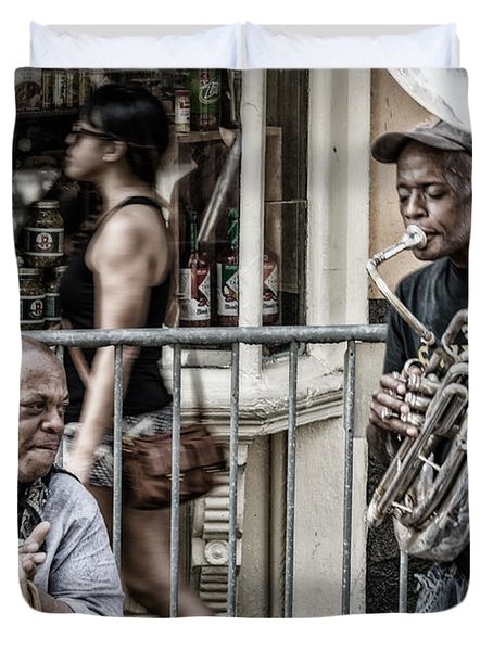 New Orleans Street Jam Duvet Cover