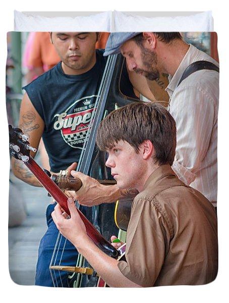New Orleans Street Trio Duvet Cover