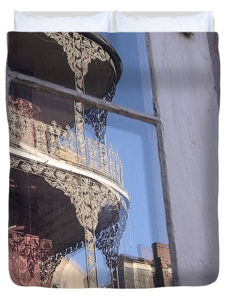 New Orleans Window Duvet Cover
