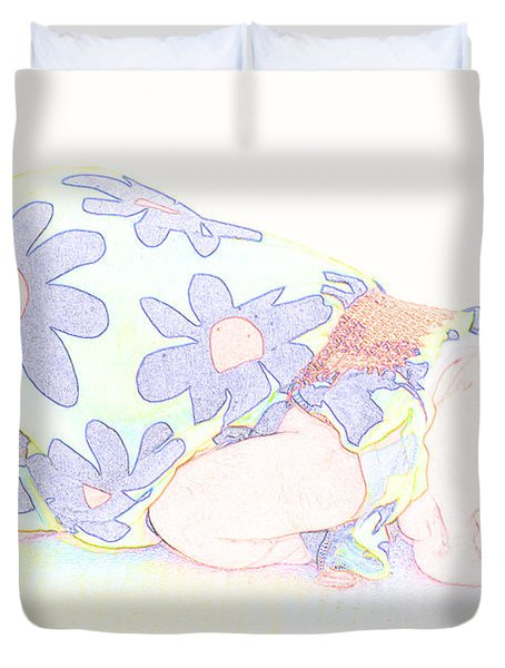 New Photographic Art Print For Sale Baby Girl Duvet Cover