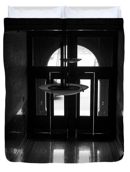 New Photographic Art Print For Sale Bradbury Building 12 Downtown La Duvet Cover by Toula Mavridou-Messer