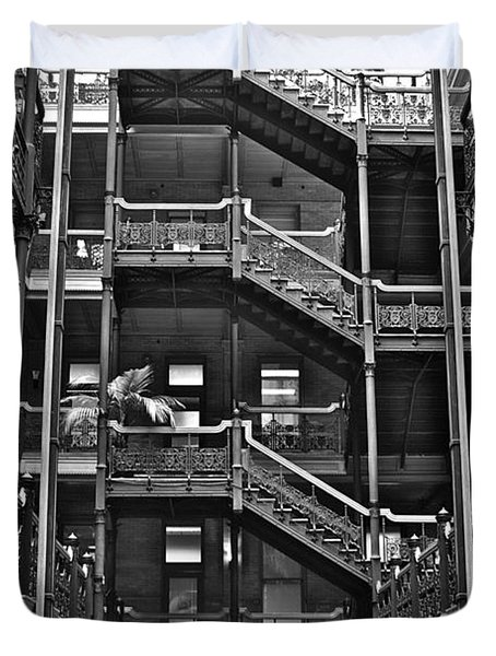 New Photographic Art Print For Sale Bradbury Building Downtown La Duvet Cover