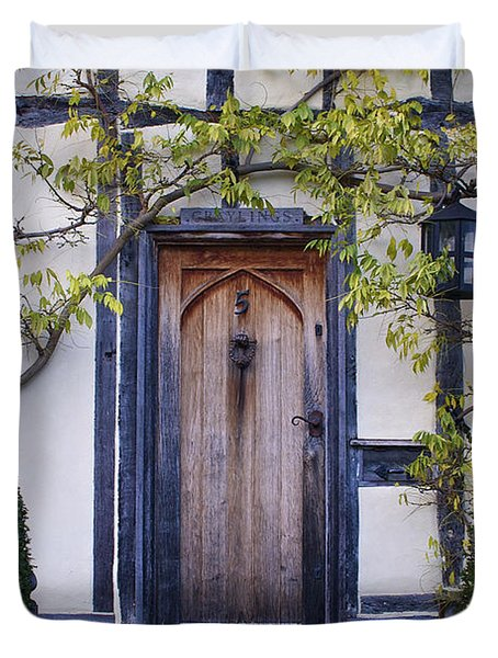 New Photographic Art Print For Sale Doorway 2 In Medieval Lavenham Duvet Cover