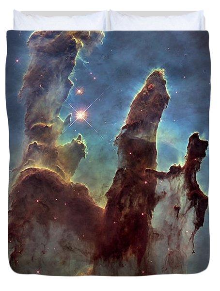 New Pillars Of Creation Hd Tall Duvet Cover
