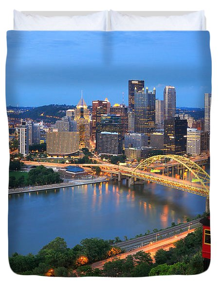 Pittsburgh Summer  Duvet Cover by Emmanuel Panagiotakis