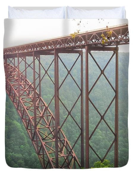 New River Gorge Bridge   Duvet Cover by Lars Lentz