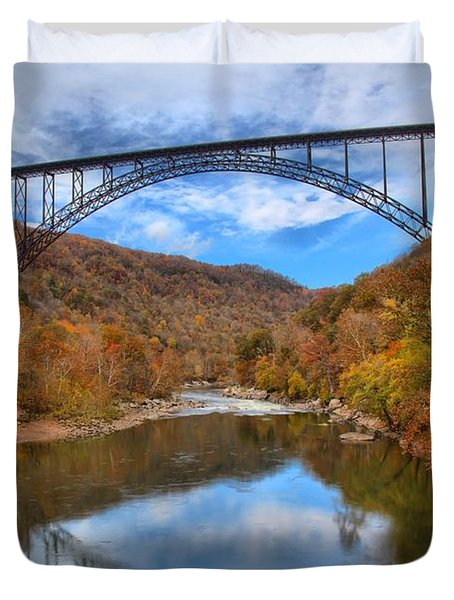 New River Gorge Reflections Duvet Cover