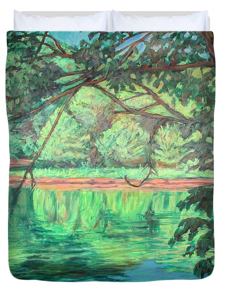 New River Reflections Duvet Cover by Kendall Kessler