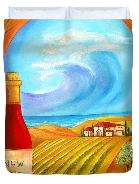 New Wine  Joel 2 Duvet Cover