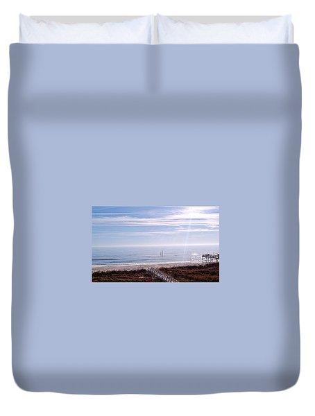 New Year Carolina Beach Duvet Cover