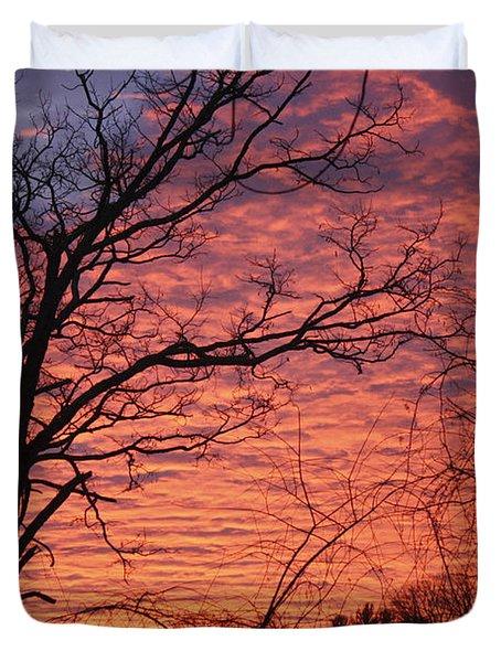 New Year Eve Sunrise Duvet Cover by Teresa Mucha