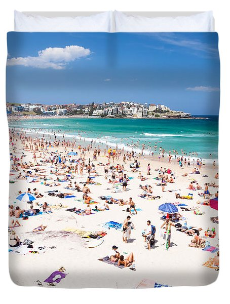 New Year's Day At Bondi Beach Sydney Australi Duvet Cover by Matteo Colombo