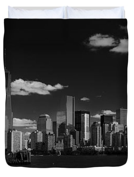 New York 1 Black And White Duvet Cover