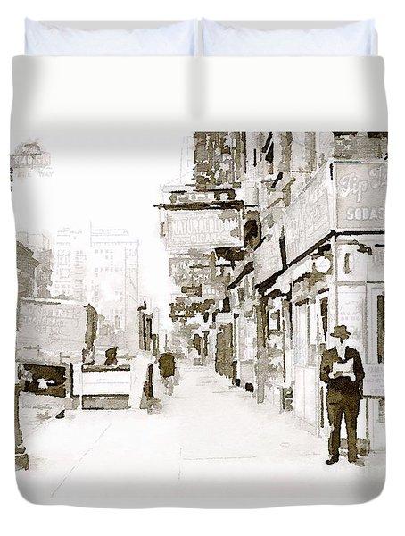 New York 1940 Duvet Cover