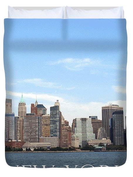 Duvet Cover featuring the photograph New York As I Saw It In 2008 by Ausra Huntington nee Paulauskaite