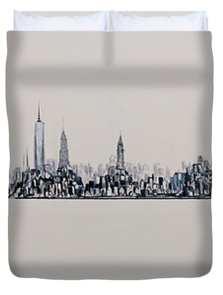 New York City 2013 Skyline 20x60 Duvet Cover