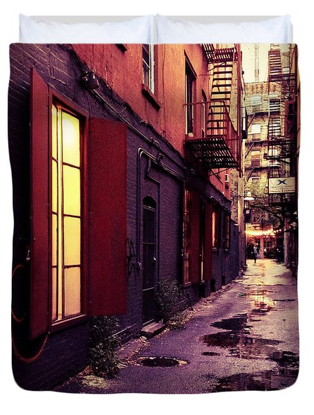 New York City Alley Duvet Cover by Vivienne Gucwa