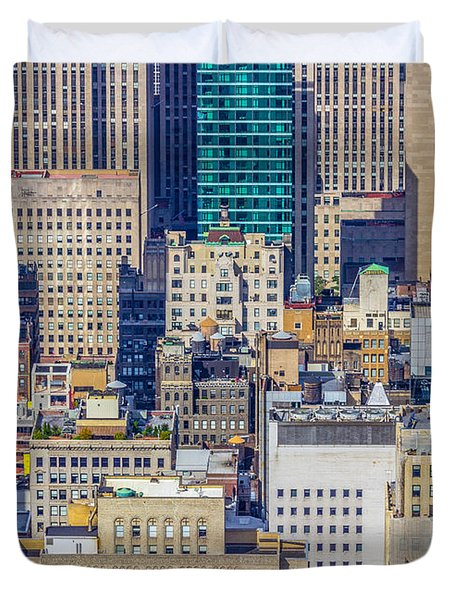 New York City Buildings Abstract Duvet Cover