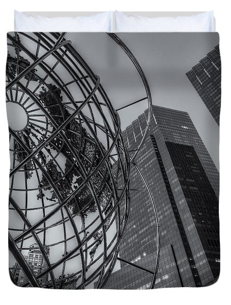 New York City Columbus Circle Landmarks II Duvet Cover