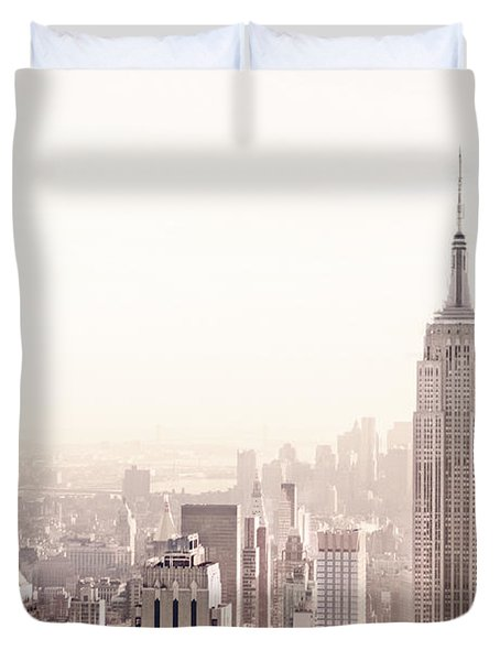 New York City - Empire State Building Duvet Cover by Vivienne Gucwa