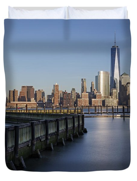 New York City Financial District Duvet Cover by Susan Candelario