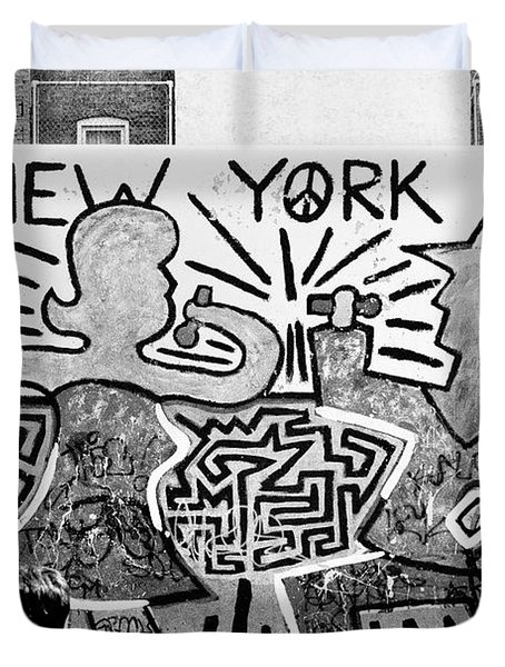 New York City Graffiti Duvet Cover