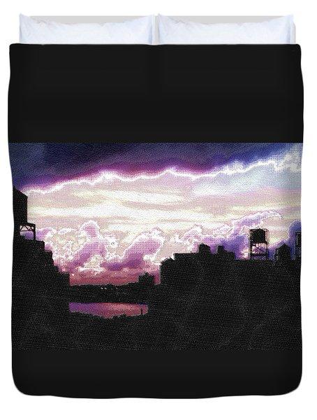 New York City Rooftops Duvet Cover by Tony Rubino