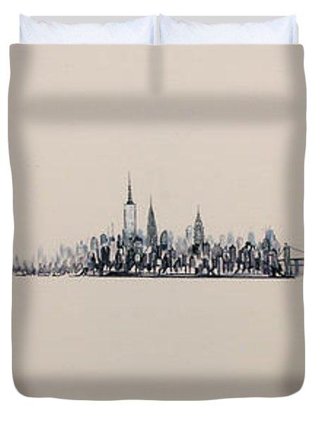 New York City Skyline 15x45 2013 Duvet Cover
