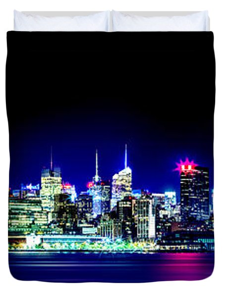 New York City Skyline Duvet Cover by Az Jackson
