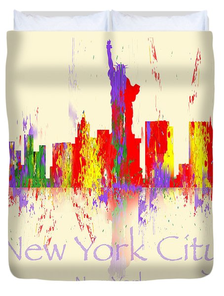 New York City Skyline I Duvet Cover