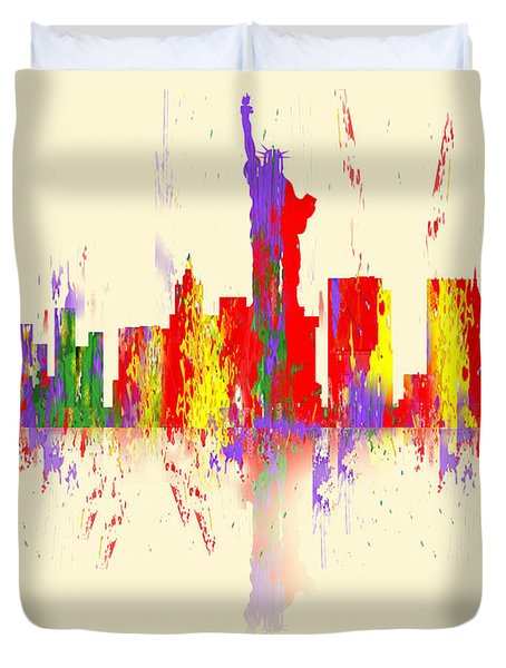 New York City Skyline II Duvet Cover